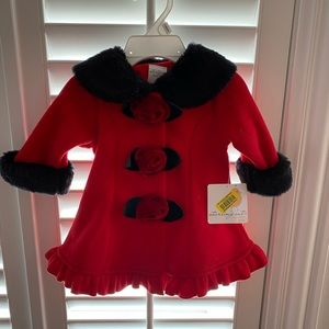 3 month winter baby dress coat